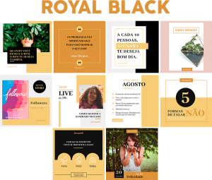 Template Canva Royal Black