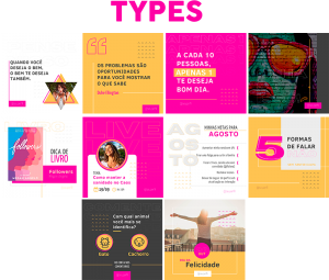 Template Canva Types