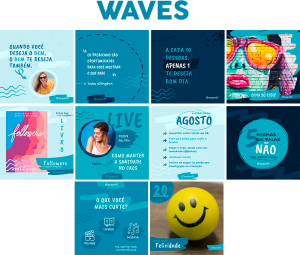 Template Canva Waves