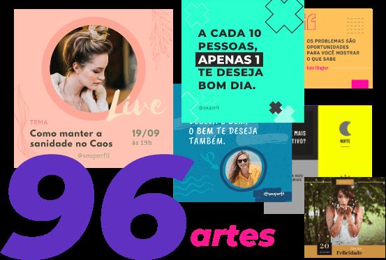 96 Templates Canva por 97 reais